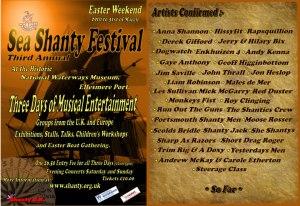 3rd Ellesmere Port Shanty Festival, Easter 2013.
